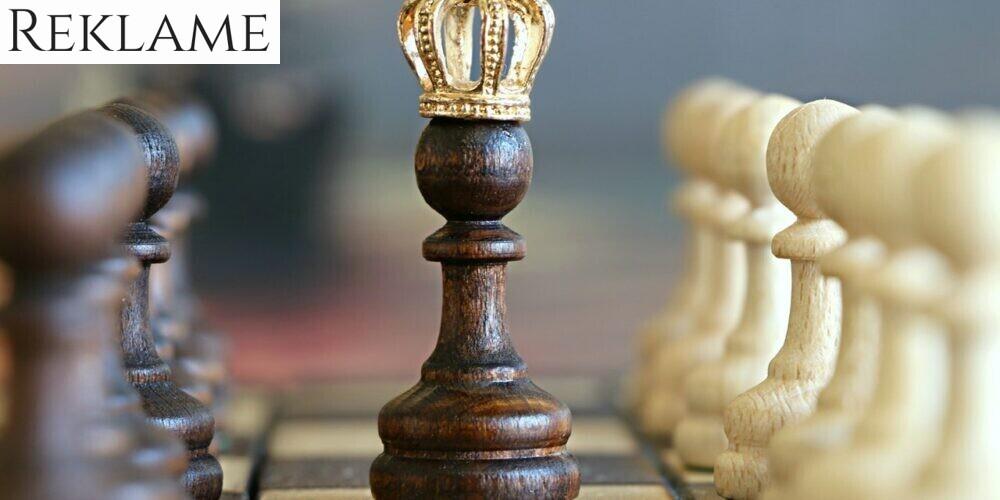 skakbrik med krone på